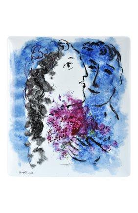 Мужского блюдо les bouquets de fleurs de marc chagall BERNARDAUD разноцветного цвета, арт. 1828/8230 | Фото 1