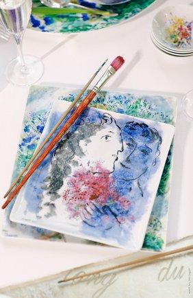 Мужского блюдо les bouquets de fleurs de marc chagall BERNARDAUD разноцветного цвета, арт. 1828/8230 | Фото 2