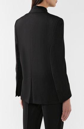 Шерстяной жакет Bottega Veneta черный | Фото №4