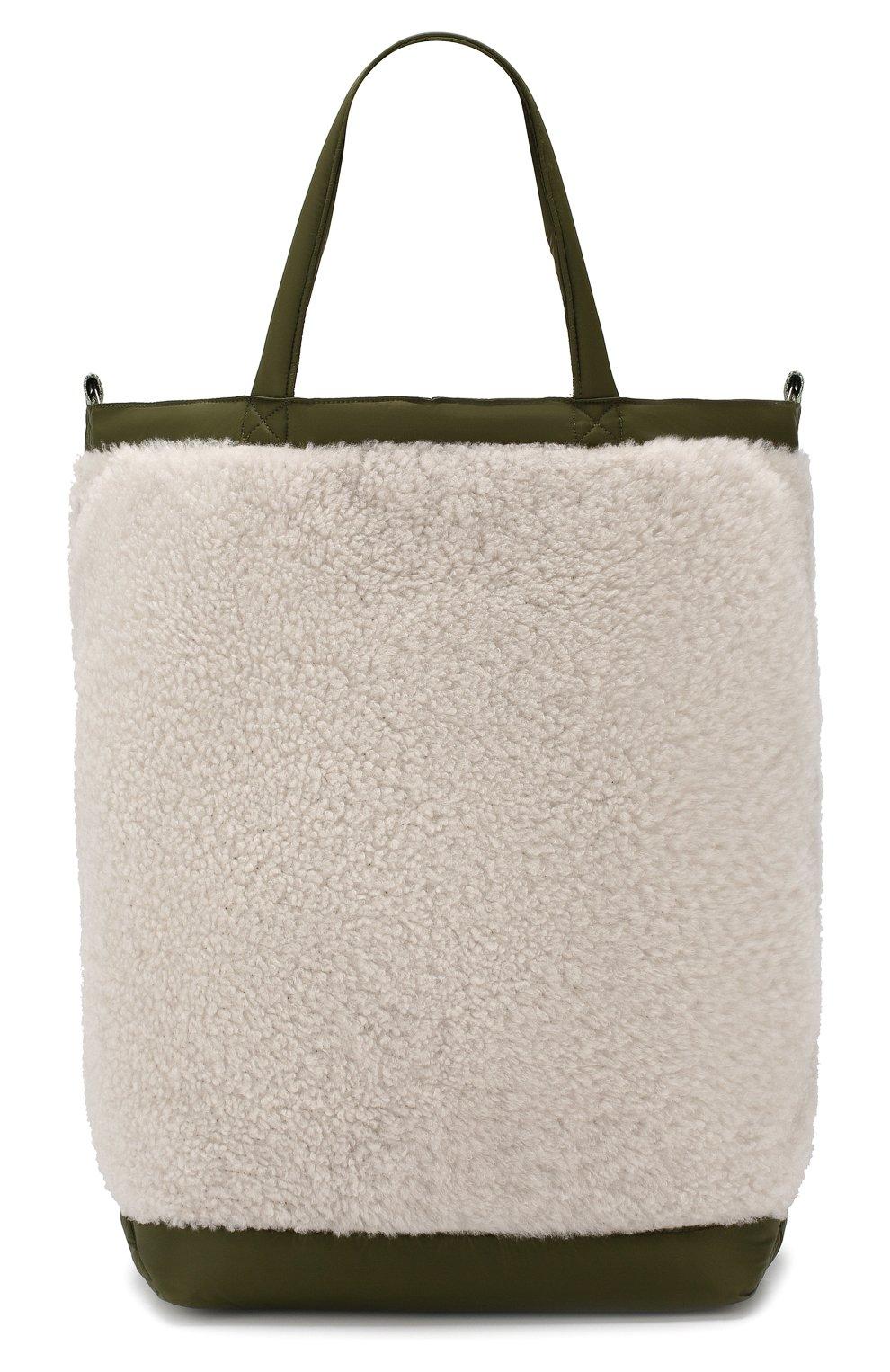 Женская сумка-тоут с отделкой овчиной YS ARMY PARIS белого цвета, арт. 9EFA058XXMEPR | Фото 1