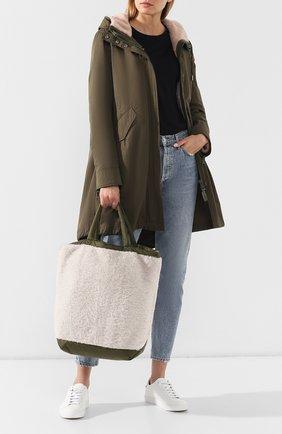 Женская сумка-тоут с отделкой овчиной YS ARMY PARIS белого цвета, арт. 9EFA058XXMEPR | Фото 2