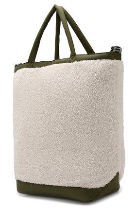Женская сумка-тоут с отделкой овчиной YS ARMY PARIS белого цвета, арт. 9EFA058XXMEPR | Фото 3