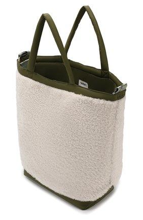 Женская сумка-тоут с отделкой овчиной YS ARMY PARIS белого цвета, арт. 9EFA058XXMEPR | Фото 4