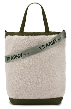 Женская сумка-тоут с отделкой овчиной YS ARMY PARIS белого цвета, арт. 9EFA058XXMEPR | Фото 5