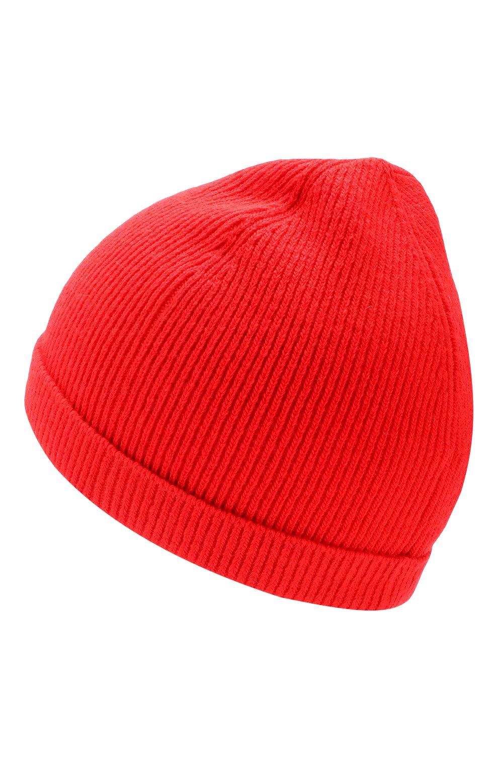 Шерстяная шапка бини CALVIN KLEIN 205W39NYC красного цвета | Фото №2