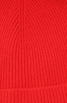 Шерстяная шапка бини CALVIN KLEIN 205W39NYC красного цвета | Фото №3
