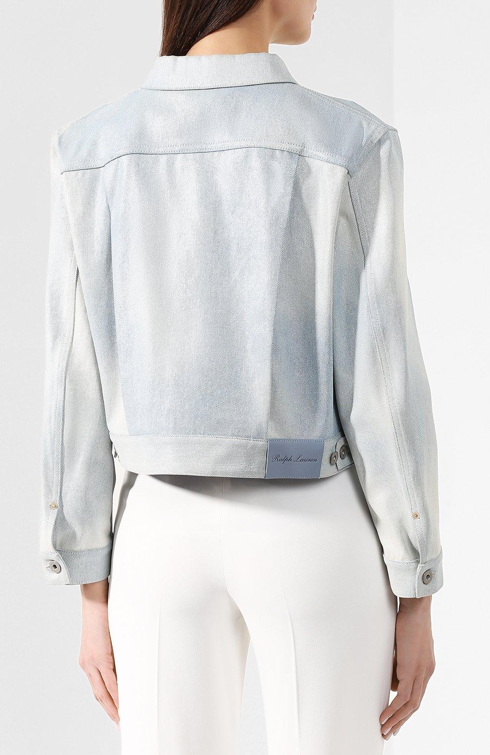Джинсовая куртка Ralph Lauren голубой   Фото №4