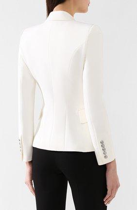 Шерстяной жакет Dolce & Gabbana белый | Фото №4