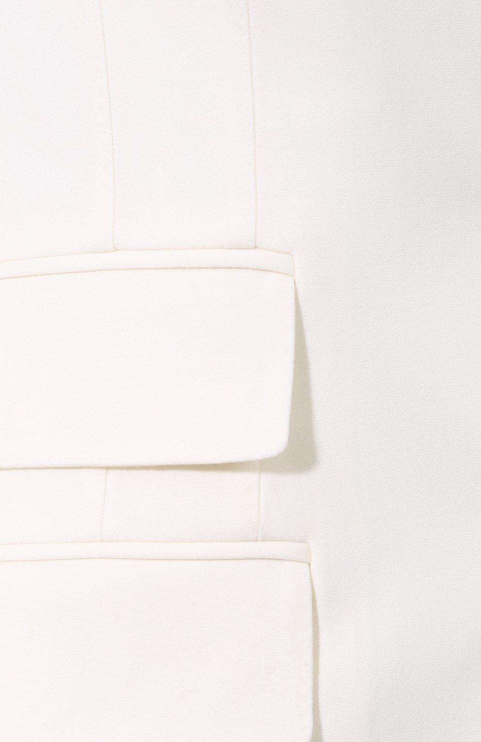 Шерстяной жакет Dolce & Gabbana белый | Фото №5