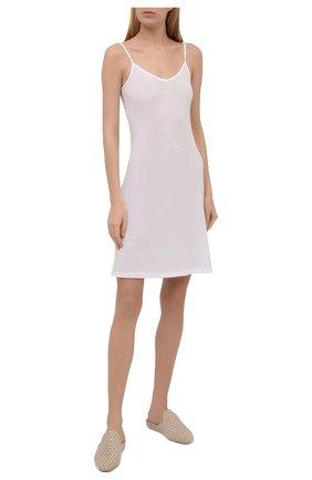 Женская хлопковая сорочка HANRO белого цвета, арт. 071346 | Фото 2