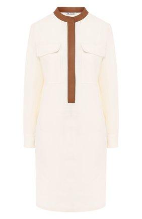 Женское льняное платье LORO PIANA белого цвета, арт. FAI5363 | Фото 1