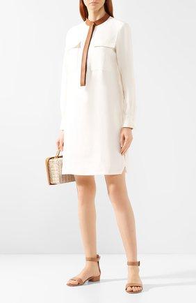 Женское льняное платье LORO PIANA белого цвета, арт. FAI5363 | Фото 2