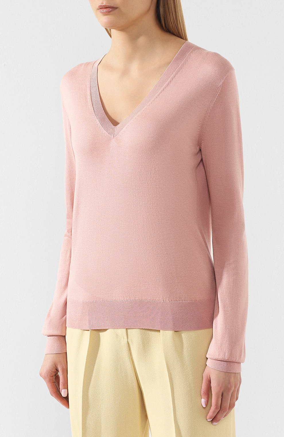 e26fd994e0d5 Пуловер из смеси шелка и хлопка