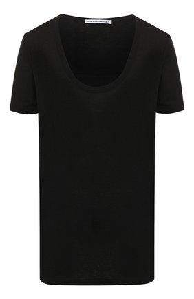 Женская футболка из вискозы ALEXANDERWANG.T черного цвета, арт. 4C991004A0 | Фото 1