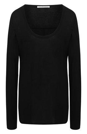 Женская лонгслив из вискозы ALEXANDERWANG.T черного цвета, арт. 4C991003A0 | Фото 1