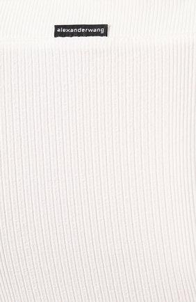 Топ из вискозы T by Alexander Wang белый | Фото №5