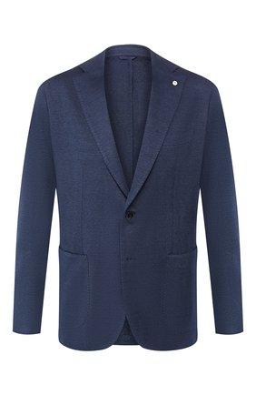Пиджак из смеси льна и хлопка | Фото №1