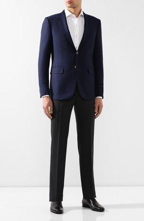 Мужской шерстяной пиджак ERMENEGILDO ZEGNA темно-синего цвета, арт. 552525/121220   Фото 2