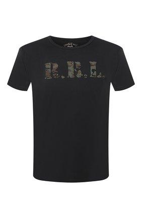 Мужская хлопковая футболка RRL черного цвета, арт. 782726323 | Фото 1