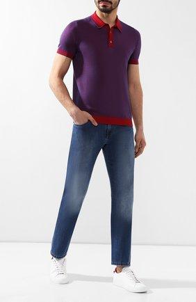 Мужские джинсы прямого кроя ANDREA CAMPAGNA синего цвета, арт. AC302/T41.W912   Фото 2