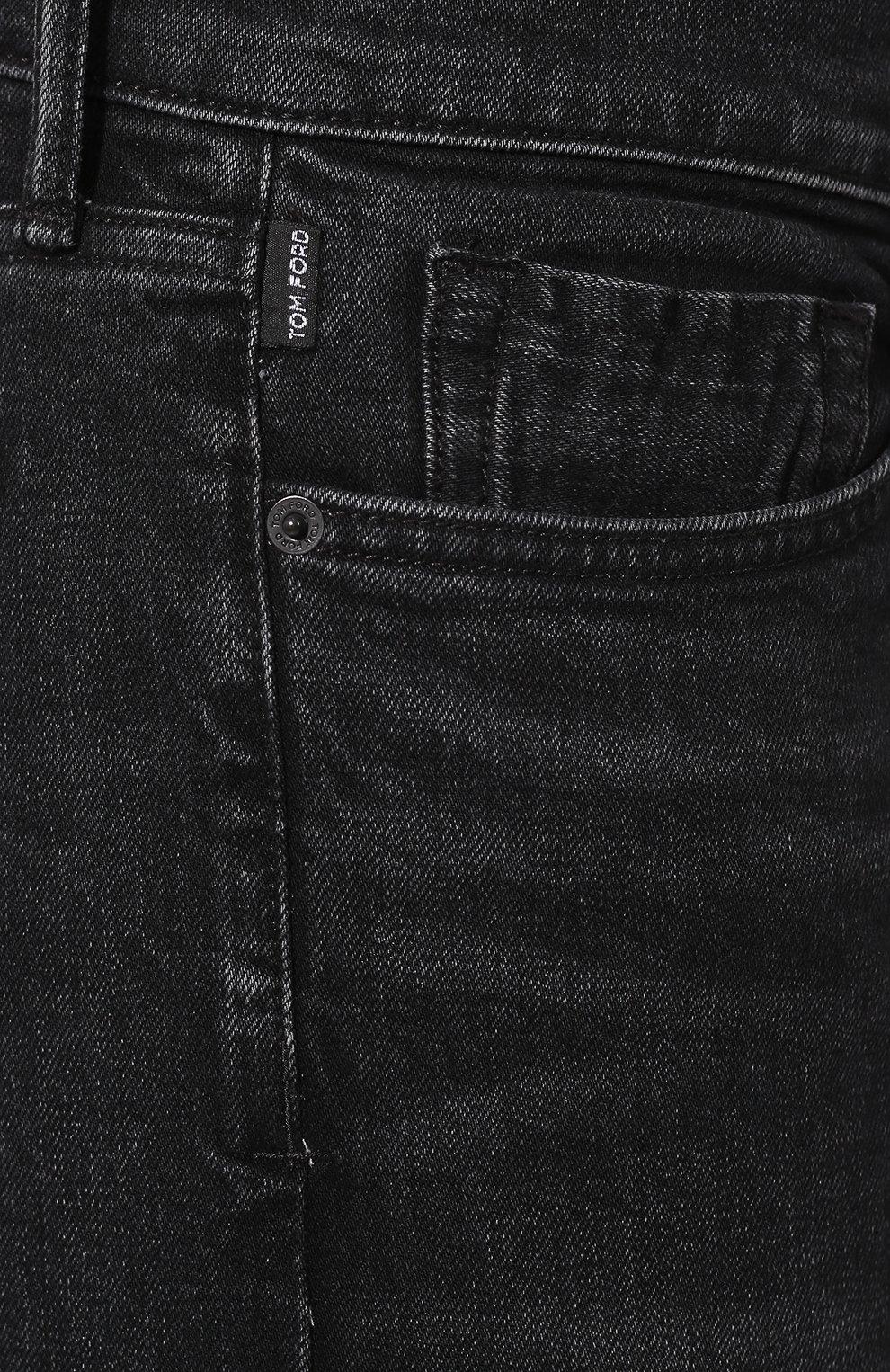 Джинсы прямого кроя Tom Ford черные | Фото №5