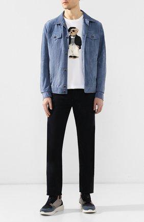 Мужские джинсы TOM FORD темно-синего цвета, арт. BSJ17/TFD002 | Фото 2