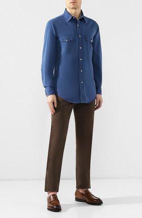Мужские джинсы TOM FORD коричневого цвета, арт. BSJ17/TFD002 | Фото 2