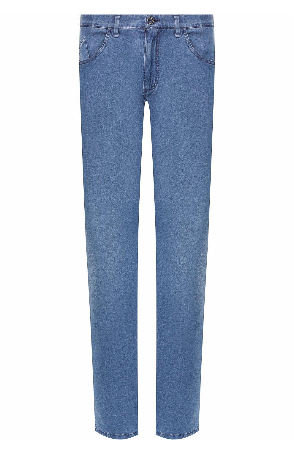 Мужские джинсы прямого кроя ZILLI голубого цвета, арт. MCR-00220-DESC1/R001/AMIS   Фото 1