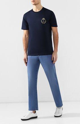 Мужские джинсы прямого кроя ZILLI голубого цвета, арт. MCR-00220-DESC1/R001/AMIS | Фото 2