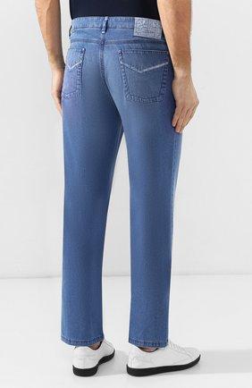Мужские джинсы прямого кроя ZILLI голубого цвета, арт. MCR-00220-DESC1/R001/AMIS   Фото 4