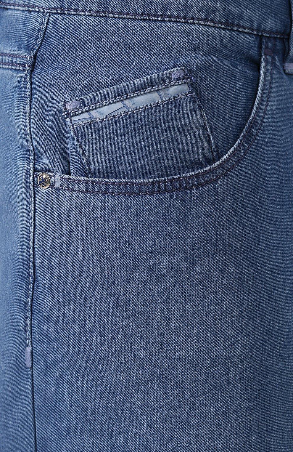 Мужские джинсы прямого кроя ZILLI голубого цвета, арт. MCR-00220-DESC1/R001/AMIS   Фото 5