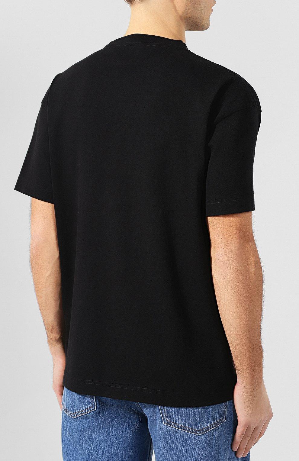 Хлопковая футболка Palm Angels черная   Фото №4