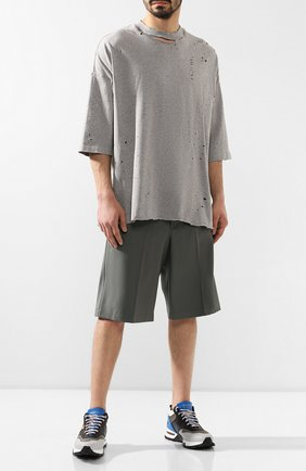 Мужские комбинированные кроссовки cesare ZEGNA COUTURE серого цвета, арт. A4140X-STW | Фото 2