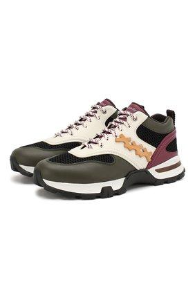 Комбинированные кроссовки Cesare | Фото №1