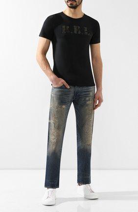 Мужские джинсы прямого кроя RRL синего цвета, арт. 782725817 | Фото 2