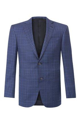Мужской шерстяной пиджак ERMENEGILDO ZEGNA синего цвета, арт. 552017/122520 | Фото 1