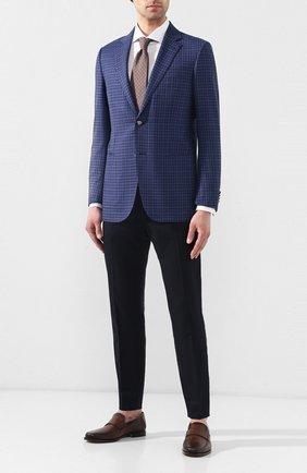 Мужской шерстяной пиджак ERMENEGILDO ZEGNA синего цвета, арт. 552017/122520 | Фото 2