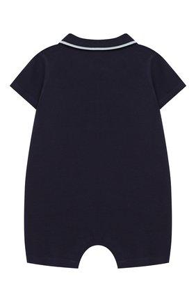 Детский хлопковый комбинезон KENZO темно-синего цвета, арт. KN33503/6M-18M | Фото 2