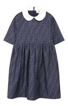 Платье из хлопка и шелка | Фото №1