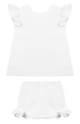 Комплект из льняной блузки и шорт | Фото №1