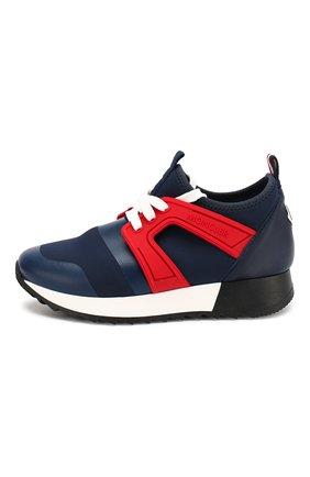Детские текстильные кроссовки MONCLER ENFANT синего цвета, арт. E1-954-00400-00-01ACX   Фото 2