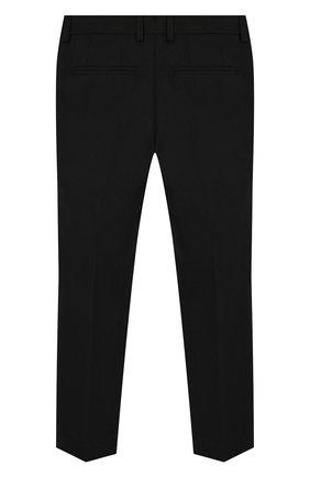 Детские шерстяные брюки DOLCE & GABBANA черного цвета, арт. L42P59/FUBBG/2-6   Фото 2
