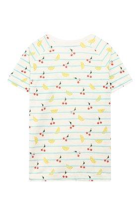 Детская льняная футболка LORO PIANA разноцветного цвета, арт. FAI4846 | Фото 2