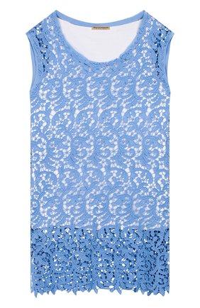 Детский комплект из хлопковой майки и топа ERMANNO SCERVINO голубого цвета, арт. 44 I T008 MAC/4-8 | Фото 1