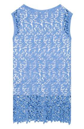 Детский комплект из хлопковой майки и топа ERMANNO SCERVINO голубого цвета, арт. 44 I T008 MAC/4-8 | Фото 2