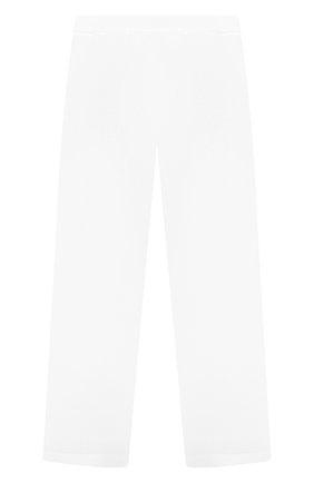 Детские льняные брюки LORO PIANA белого цвета, арт. FAI0756   Фото 2
