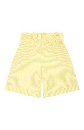 Детские хлопковые шорты LORO PIANA желтого цвета, арт. FAI4820   Фото 2