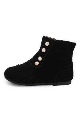 Детские замшевые ботинки AGE OF INNOCENCE черного цвета, арт. NATALIE/000141/22-28 | Фото 2