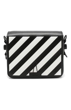 Сумка Diag Binder Clip Off-White черная цвета | Фото №1