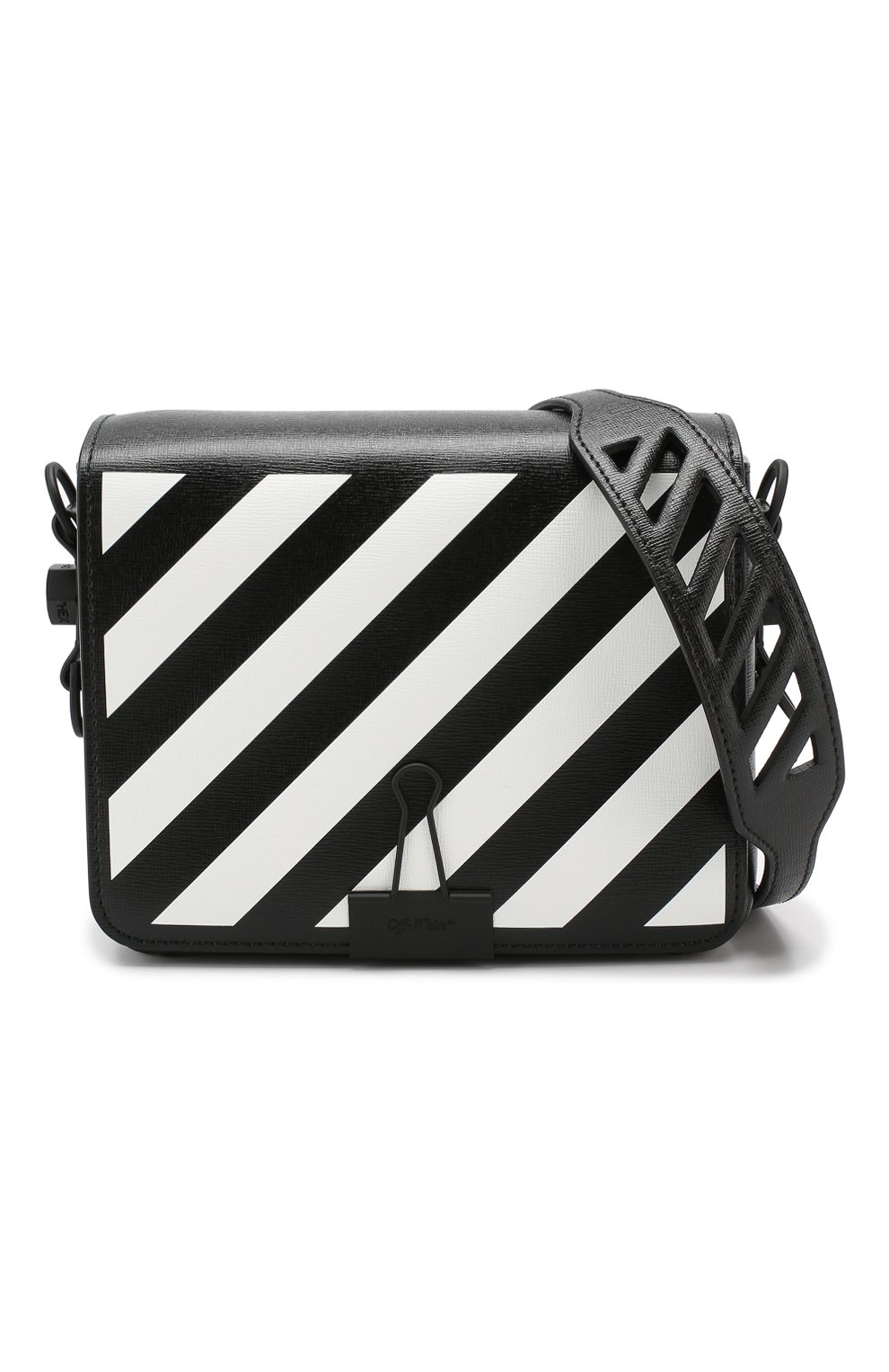 Сумка Diag Binder Clip Off-White черная цвета | Фото №6